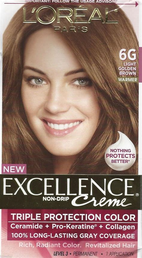 l oreal excellence creme protection permanent hair color creme medium brown 5 1 0 l oreal excellence creme protection hair color 6g light golden brown dye hair color
