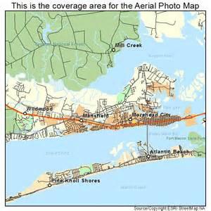 aerial photography map of morehead city nc carolina