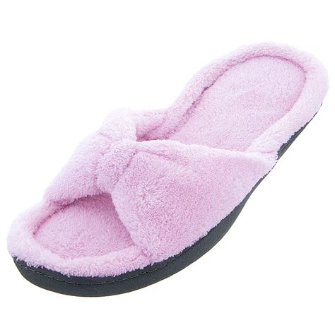 fuzzy pink slippers isotoner pink bow fuzzy slippers for