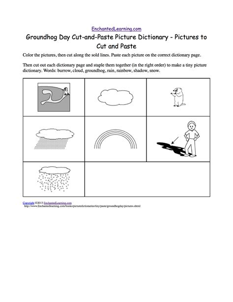 groundhog day meaning dictionary groundhog day cut and paste picture dictionary a