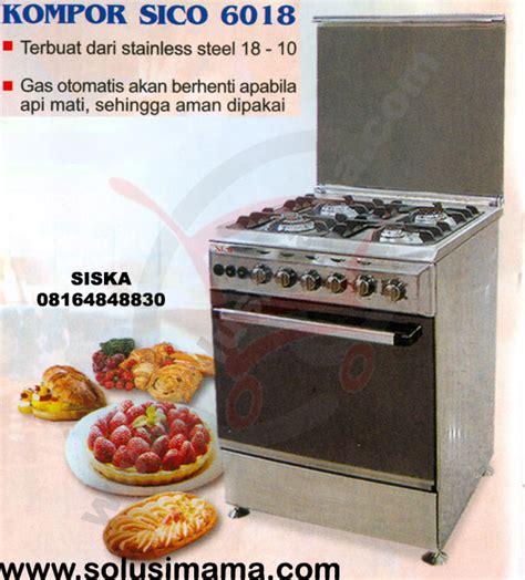 Oven Kompor Stainless solusi kompor gas oven 6018 4tungku sico