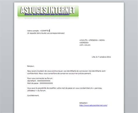 Modele Lettre De Fusion Entreprise Cr 233 Er Un Publipostage Avec Word 2010 Bureautique Articles Astuces