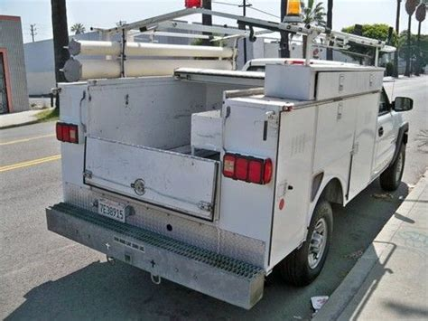 Utility Bed Ladder Rack by Buy Used 2003 Chevy 2500 Utility Service Bed Work Truck Hd