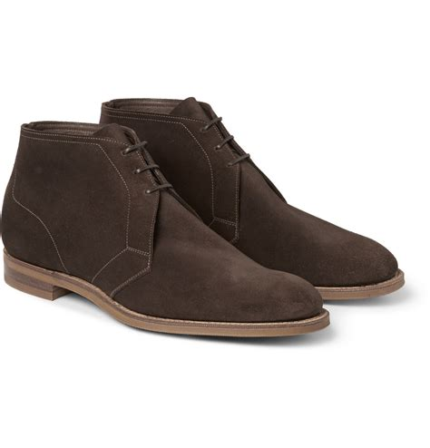 edward green boots edward green shanklin suede chukka boots in brown for