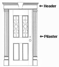 Vinyl Door Surround Window Headers Vinyl Door Surrounds Vinyl Door Trim Vinyl Door Molding