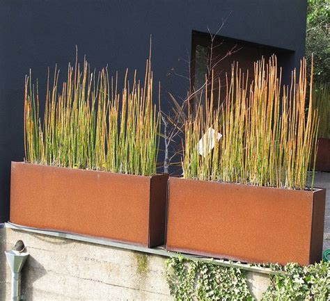 corten steel planter corten steel planters with containers of