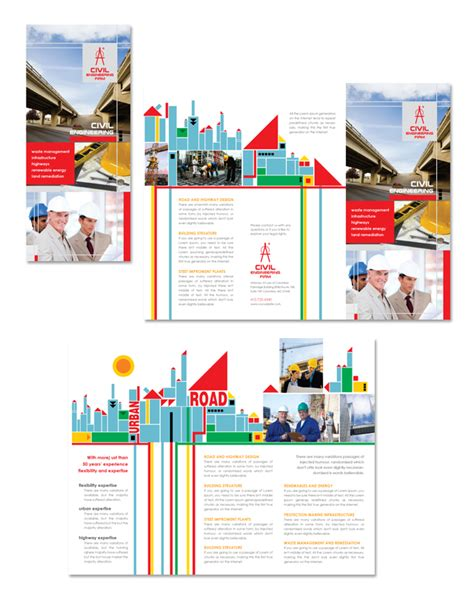 engineering brochure templates free civil engineers tri fold brochure template