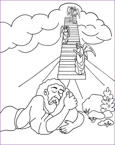 free bible coloring pages jacob s ladder 17 best images about sunday school on sunday