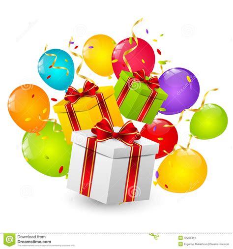 imagenes cajas para colocar regalos de cumpleaos cajas de regalo de cumplea 241 os ilustraci 243 n del vector