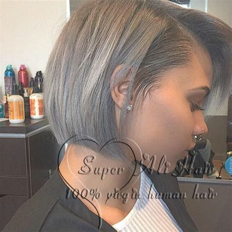 hairpiece stlye for matric free shipping new 2015 short gray wig human short hair wig
