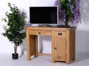 Computer Desk For Dining Room Rustique Oak Computer Desk Single Pedestal Oakea