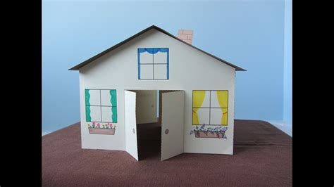paper house childrens craft youtube