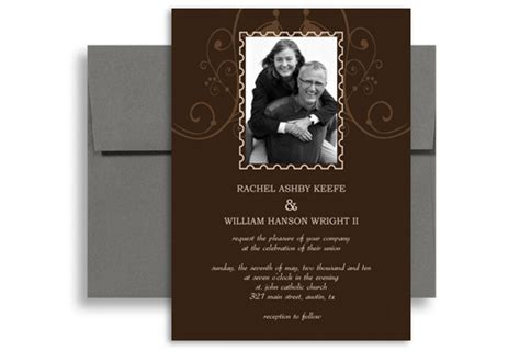 photo customise  wedding invitation    vertical wi  designbetty