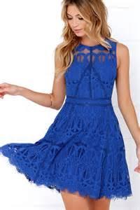 blue dress cobalt blue dress lace dress 115 00