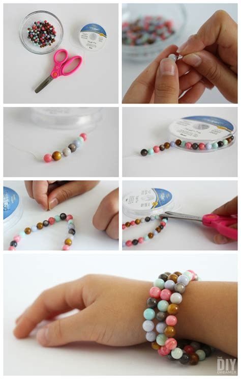 how to make stretch bracelets with crafts beaded stretch bracelets tutorial