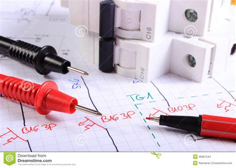 electric fuse and money on electrical drawing