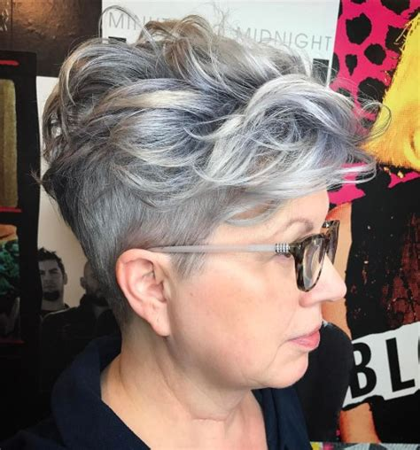 undercut hairstyle for 60 years 90 classy and simple short hairstyles for women over 50