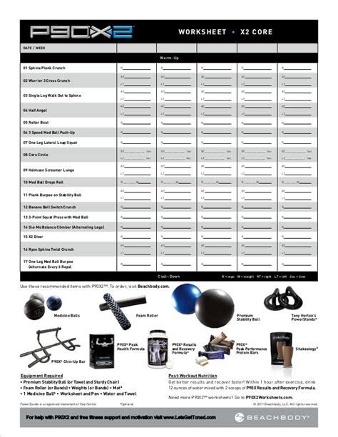 p90x2 base and back worksheet p90x2 worksheets