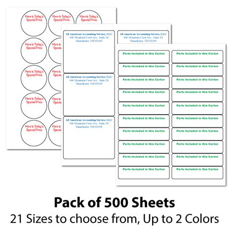 how to choose sheets custom printed laser inkjet labels personalized with your