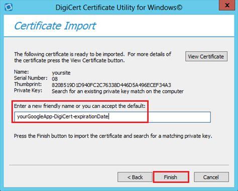 install google certificate google app engine installing ssl certificates