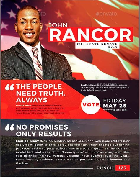 powerpoint templates for election posters political and voting flyer templates graphicmule