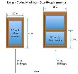 minimum width window egress definition laws and what you should know
