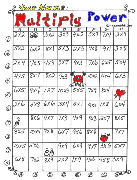printable games to learn multiplication facts multiplication worksheets games multiplication memory