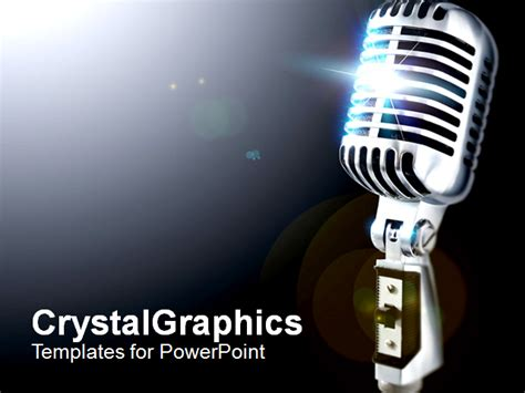 vintagemic108 powerpoint template background of microphone