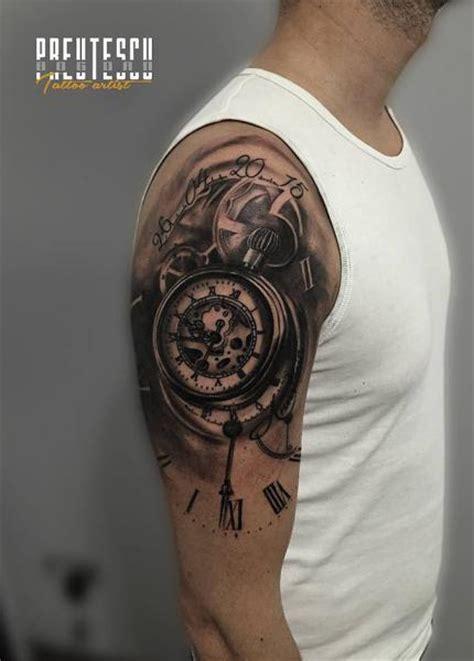 el loco germany tattoo tatouage 201 paule horloge par el loco tattoo lounge