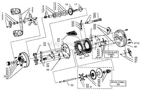abu garcia parts diagrams abu garcia 6601 c4 parts list and diagram 15 00