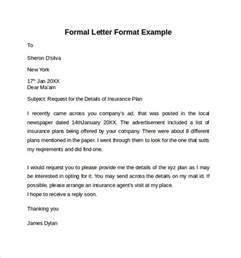 Letter Resignation Letter Sle by Formal Letter Exles Thevictorianparlor Co