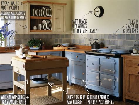 Cream Cottage Kitchen - what colours go with duck egg blue the guide