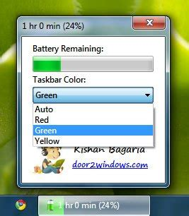 battery color changer windows 7 battery bar show battery status in windows 7