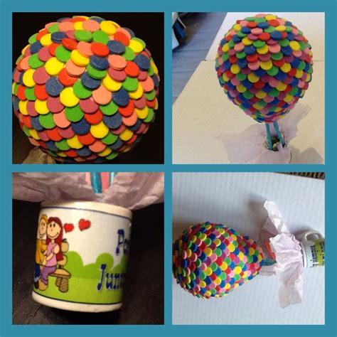 caja de regalo hecha de foami diy globo hecho de foami como el de la pel 237 cula de up de