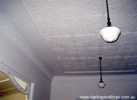 pressed metal project using panels on the ceiling