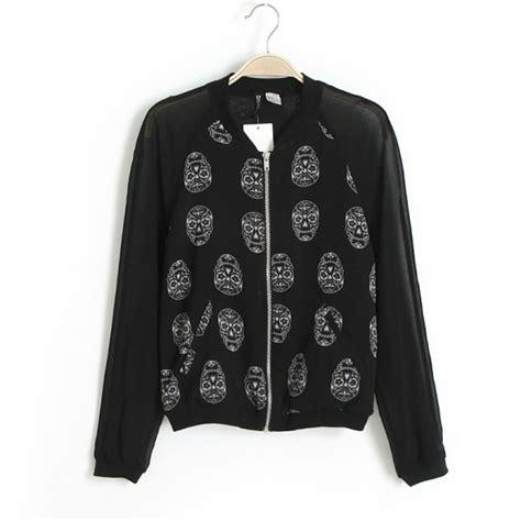 Jaket Longskull blizzard woven sleeves skull print jacket 221