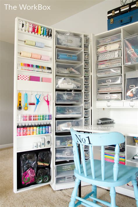 craft room storage cabinets craftaholics anonymous 174 craft room tour