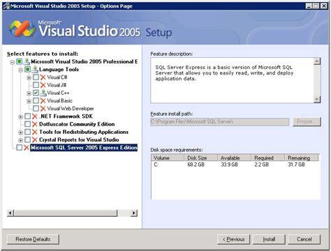 reset visual studio 2005 settings microsoft visual studio 2005 torrent free download