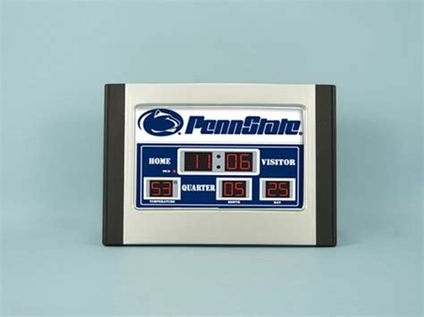 penn state it service desk ncaa official team logo scoreboard alarm clocks
