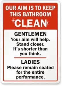 Bathroom Signs For Work Restroom Signs Eastern Sea