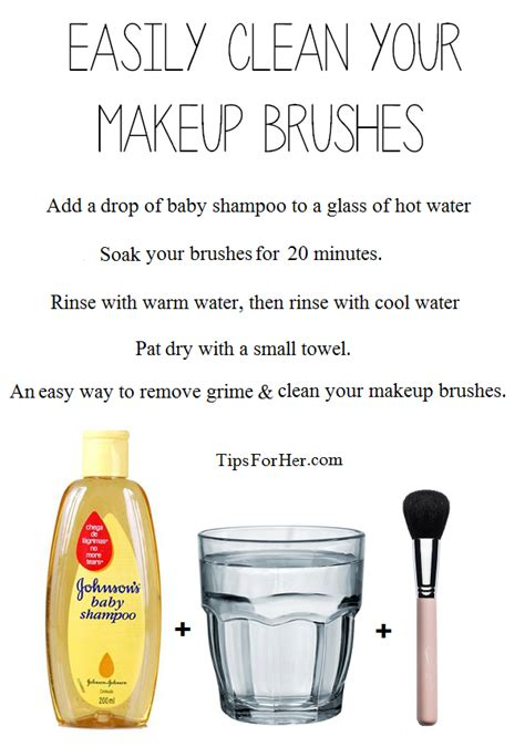 easily clean your makeup brushes