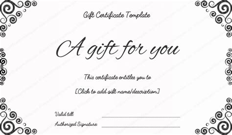 bussiness gift certificate template gift certificate