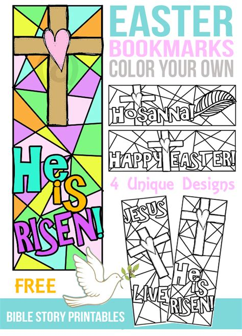 Printable Easter Bookmarks To Colour | free color your own easter bookmarks free homeschool deals