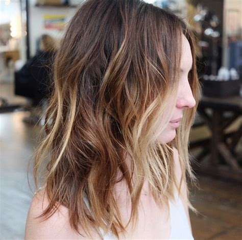 front and back image of medium length choppy hair cuts image gallery long bob hairstyles 2016 choppy