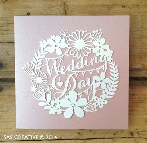 paper cut card templates papercut template wedding day pdf jpeg svg make