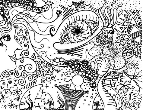 trippy yin yang coloring pages trippy by piehay on deviantart