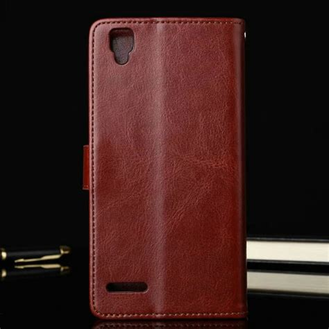 Flip Leather Cover For Oppo F1 S leather flip cover wallet oppo f1 sumberrezeki id