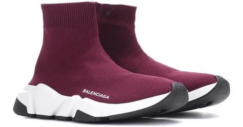 Sepatu Balenciaga Speed Trainer lyst balenciaga speed trainer sneakers in purple