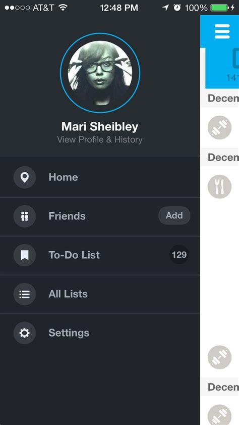 side swip foursquare screenshots mobile patterns