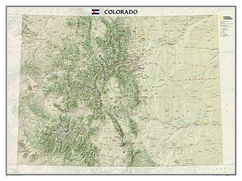 geographical map of colorado colorado wall map by national geographic maps rocky